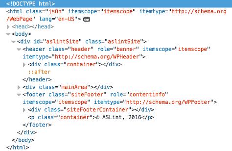 ASLint html code